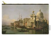 A View Of The Dogana And Santa Maria Della Salute Carry-all Pouch by Antonio Canaletto
