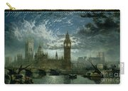 A View Of Westminster Abbey And The Houses Of Parliament Carry-all Pouch by John MacVicar Anderson