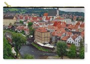 A View Overlooking The Vltava River And Cesky Krumlov In The Czech Republic Carry-all Pouch