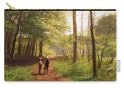 A Walk In The Forest Carry-all Pouch by Niels Christian Hansen