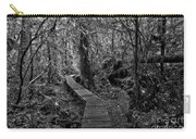 A Walk Through The Willowbrae Rainforest Black And White Carry-all Pouch