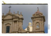 A Well Placed Ray Of Sunshine - Noto Cathedral Saint Nicholas Of Myra Against A Cloudy Sky Carry-all Pouch