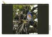 A Western Bluebird In A Tree Carry-all Pouch