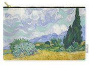 A Wheat Field, With Cypresses Carry-all Pouch