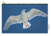 A White Gull Flying In Sky Carry-all Pouch
