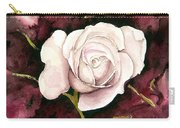 A White Rose Carry-all Pouch