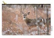 A White-tailed Deer In The Snow Carry-all Pouch
