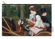 A Woman And Child In The Driving Seat Carry-all Pouch by Mary Stevenson Cassatt