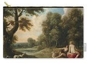 A Wooded Landscape With Venus Adonis And Cupid Carry-all Pouch