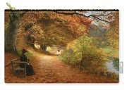 A Wooded Path In Autumn Carry-all Pouch