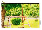 A Wooden Swing Under The Tree Carry-all Pouch