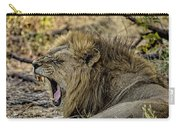 A Yawning Lion Carry-all Pouch