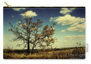 A Yellow Tree In A Middle Of A Dry Field - Wide Angle Carry-all Pouch
