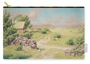 A Young Girl In Summer Landscape Carry-all Pouch