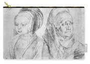 A Young Girl Of Cologne And Dbcrer Wife 1520 Carry-all Pouch