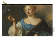 A Young Woman With A Parrot, Ary De Vois, 1660 - 1680 Carry-all Pouch