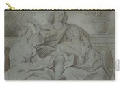 A Youth And Two Girls Singing , Jacob Jordaens Carry-all Pouch