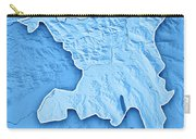 Aargau Canton Switzerland 3d Render Topographic Map Blue Border Carry-all Pouch