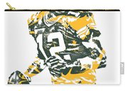 Aaron Rodgers Green Bay Packers Pixel Art 15 Carry-all Pouch