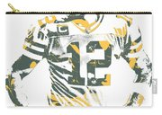 Aaron Rodgers Green Bay Packers Pixel Art 20 Carry-all Pouch