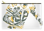 Aaron Rodgers Green Bay Packers Pixel Art 22 Carry-all Pouch