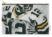 Aaron Rodgers Green Bay Packers Pixel Art 4 Carry-all Pouch