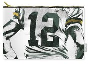Aaron Rodgers Green Bay Packers Pixel Art 6 Carry-all Pouch