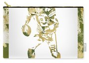 Aaron Rodgers Green Bay Packers Water Color Art 1 Carry-all Pouch