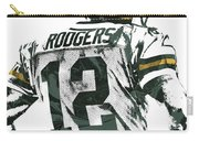 Aaron Rodgers Green Bay Packers Pixel Art 5 Carry-all Pouch
