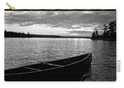 Abandoned Canoe Floating On Water Carry-all Pouch