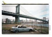 Abandoned Car And Manhattan Bridege Carry-all Pouch