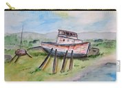 Abandoned Fishing Boat Carry-all Pouch by Clyde J Kell
