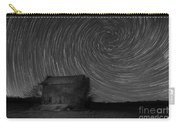 Abandoned House Spiral Star Trail Bw  Carry-all Pouch