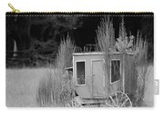 Abandoned In The Field Black And White Carry-all Pouch