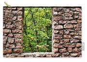 Abandoned Stone Wall With Window Carry-all Pouch