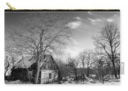 Abandoned Wooden Shack In Winter Carry-all Pouch