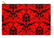 Abby Damask In Black Pattern 02-p0113 Carry-all Pouch