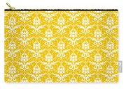 Abby Damask In White Pattern 05-p0113 Carry-all Pouch