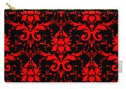Abby Damask With A Black Background 02-p0113 Carry-all Pouch