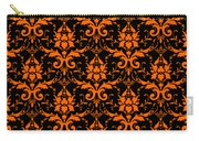 Abby Damask With A Black Background 03-p0113 Carry-all Pouch