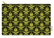 Abby Damask With A Black Background 05-p0113 Carry-all Pouch