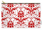 Abby Damask With A White Background 02-p0113 Carry-all Pouch