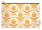 Abby Damask With A White Background 03-p0113 Carry-all Pouch