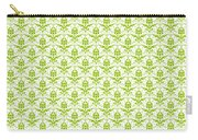 Abby Damask With A White Background 09-p0113 Carry-all Pouch