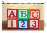 Abc 123 Carry-all Pouch