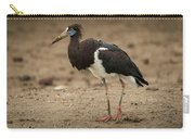 Abdim Stork Walks Right-to-left Across Muddy Ground Carry-all Pouch