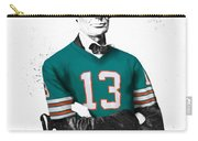 Abe Lincoln In A Dan Marino Miami Dolphins Jersey Carry-all Pouch