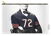 Abe Lincoln In A William Perry Chicago Bears Jersey Carry-all Pouch
