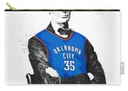 Abe Lincoln In An Kevin Durant Okc Thunder Jersey Carry-all Pouch