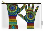 Aboriginal Hands Gold Transparent Background Carry-all Pouch